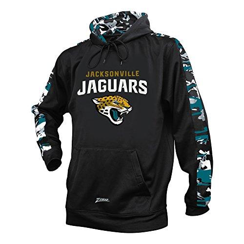 Camo Jaguars Jacksonville (NFL Jacksonville Jaguars Men's Zubaz Camo Print Accent Team Logo Synthetic Hoodie, Medium, Black)