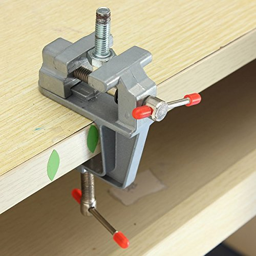 Bench Vise Light - Mangocore 35mm Aluminum MiniAture Small Jewelers Hobby Clamp On Table Bench Vise Tool Vice