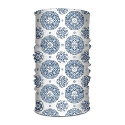 TRUSTINEE Woman's Mens Turban French Country Style Floral Circular Pattern Lace Ornamental Snowflake Fashion Headwear