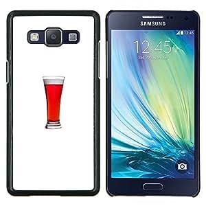 LECELL--Funda protectora / Cubierta / Piel For Samsung Galaxy A5 A5000 -- Ale minimalista vaso de bebida Stout --