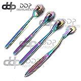 DDP Set of 4 Wartenberg Neurological Pin Wheel Pinwheel 1, 2, 3, 5 Head Diagnostic Multi Color Rainbow