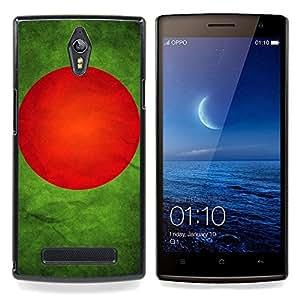 """Qstar Arte & diseño plástico duro Fundas Cover Cubre Hard Case Cover para OPPO Find 7 X9077 X9007 (Bandera nacional de la Serie-Bangladesh"""")"""