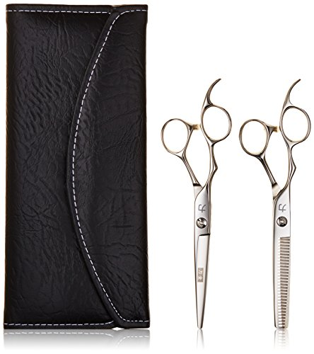 Price comparison product image ShearsDirect Two Left Handed Cutting and Thinning Shears with 30 Teeth, 6.0 Inch, 4.1 Ounce