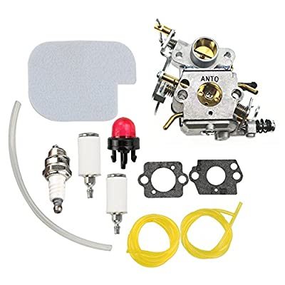 AnTo C1M-W26 Carburetor with Air Filter Fuel Line Filter Kit for Poulan Chainsaw P3416 P3816 P4018 PP3416 PP3516 PP3816 PP4018 PP4218 PPB3416 PPB4018 PPB4218