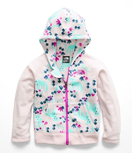 The North Face Todd Glacier Full Zip Hoodie - Purdy Pink Fox Floral Print - 3T