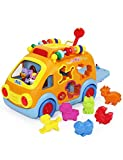 KONIG KIDS Happy Animal Bus with Music and Lights Learning Toys for Baby Toddler