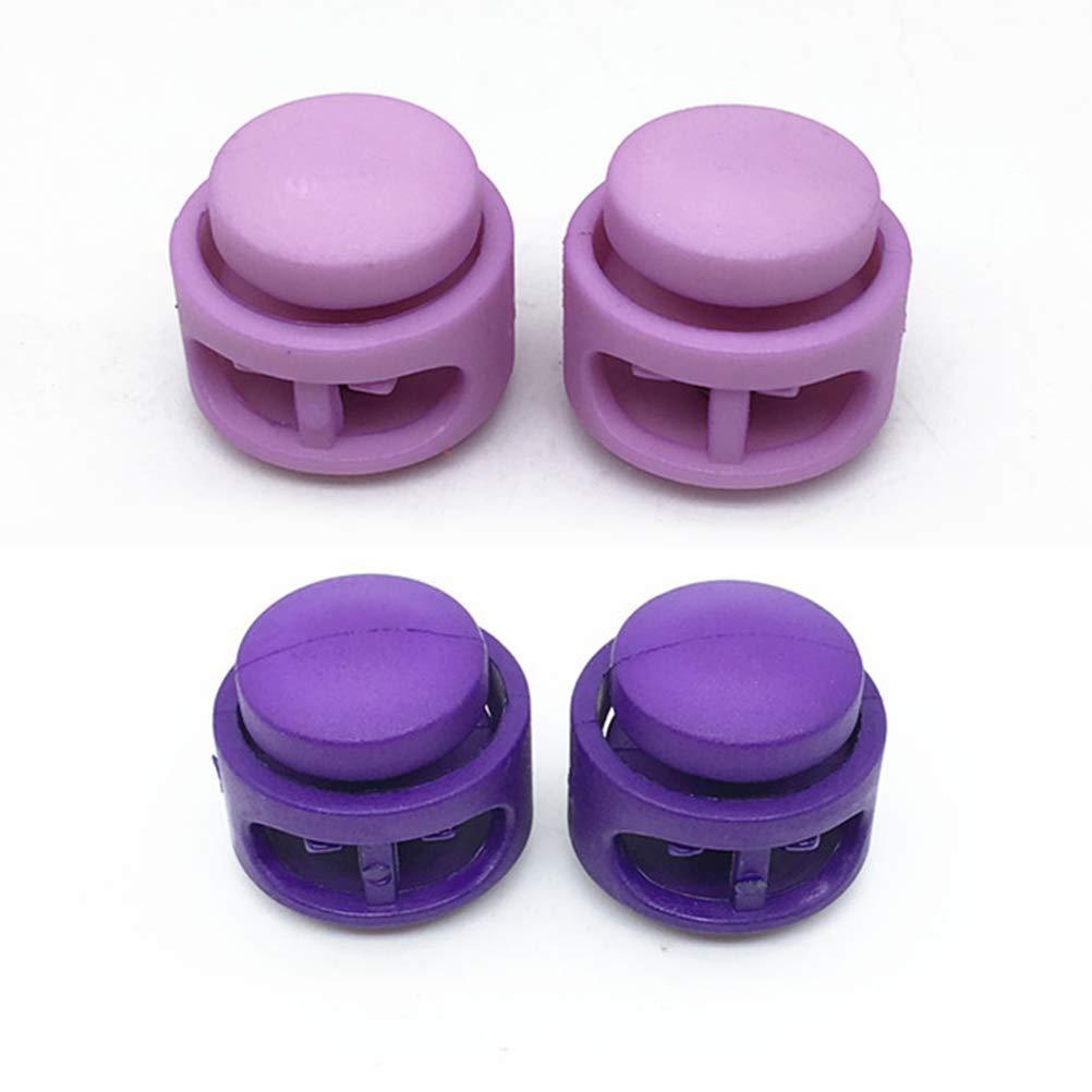 SUPVOX 50 unids Cerradura de cord/ón de colorido resorte de doble orificio