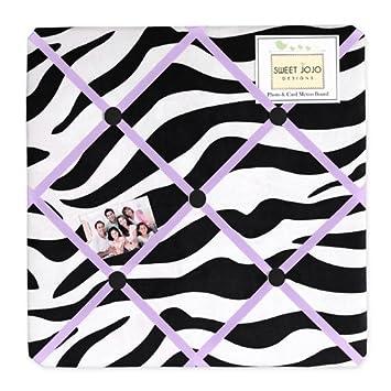 Amazon Purple Funky Zebra Fabric MemoryMemo Photo Bulletin Classy Funky Memo Boards