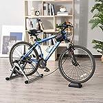 Rullo-per-bicicletta-a-magnete-per-allenamento-in-casa-argento-NUOVO