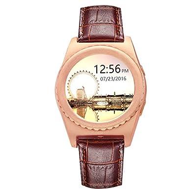 Bluetooth Smart reloj teléfono Q8 reloj de pulsera corazón tasa recordatorio de llamadas para iPhone Android smartphones anti-lost reloj deportivo: ...