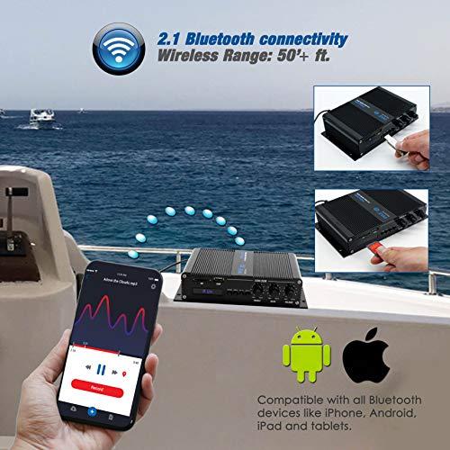 1 2 Channel Bluetooth Audio Marine Amplifier