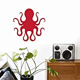 inspiring octopus wall mural  Vinyl Peel and Stick Mural Removable Wall Sticker Decals Octopus for Kids Room