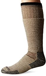 Carhartt Men\'s Arctic Wool Heavy Boot Socks,  Brown, Shoe: 6-12
