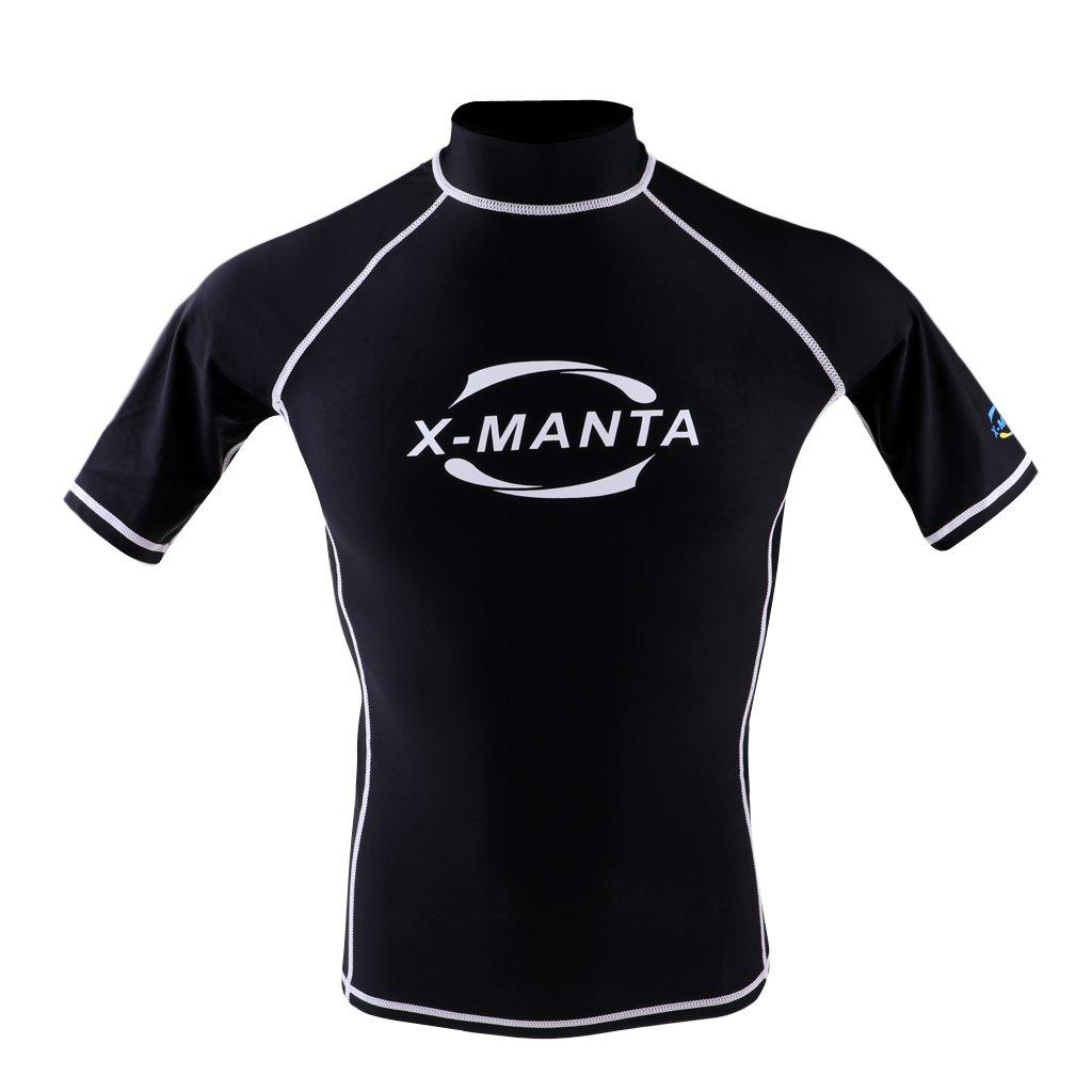 D DOLITY Herren Rash Guard Kurzarm UV-Shirt Surf Shirt UV-Sonnenschutz   (UPF ) 50+ Badeanzug Schwimmshirt schnelltrocknend Schwimmanzug 847b2e42b8