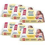 Kit Toalhas Umedecidas Johnsons Baby, Recém-Nascido 6 Pacotes com 96 unidades cada
