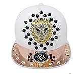 myglory77mall PRANKERS Handmade Flat Cap Snapback Bboy Hats Adjustable Hip-Hop gl9b White S For Kids