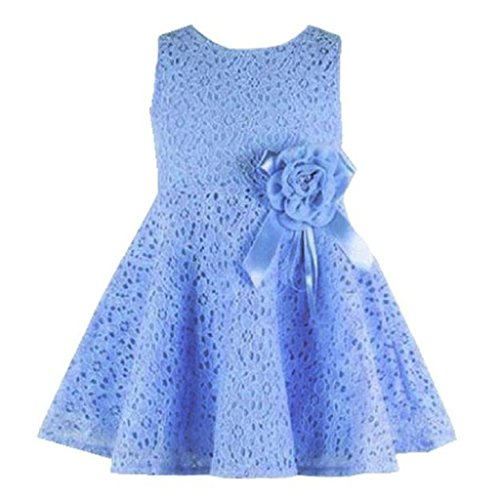 Lite Cloth Strap (Girl's Summer Dress, Orangeskycn Lovely Girl Kid's Full Lace Floral One Piece Princess Party Dress (0-6m, Light Blue))