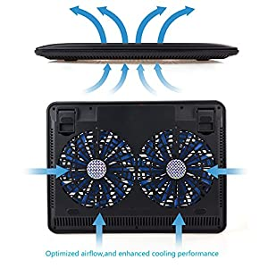 Laptop Cooler, BESTEK Gaming Portable Laptop Cooler ,Faster Cooling And USB Powered, Support Various Size 10inch To 17inch Laptop/Notebook