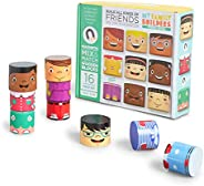 My Family Builders Friends Edition Diversity Building Blocks with Magnets – Build Little People Figures for Cultural Inclusi