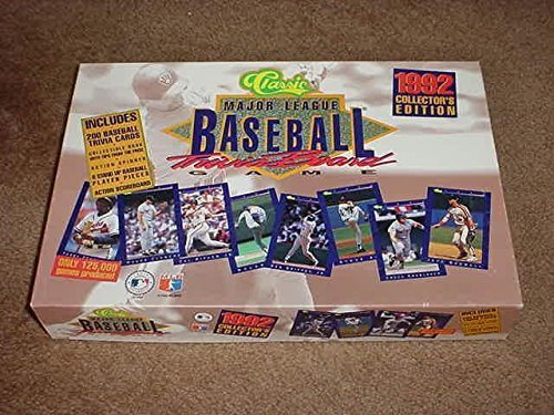 Classic Major League Baseball Trivia Board Game 1992 Collector's Collector's 1992 Edition by Classic Games fa8a76