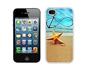 Elegant Apple iPhone 5c Case Durable Soft Silicone TPU Infinity Anchor Forever Young Starfish White Cell Phone Case Cover Protector for Iphone 5c