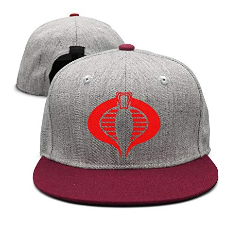 Man red Cobra Simple Design Baseball Cap Snapback (Cobra Caps Cotton Headband)