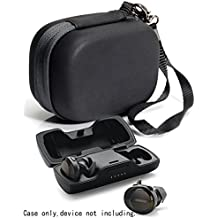 [Patrocinado] Funda protectora para auriculares Bose SoundSport Truly Wireless Sport Charger Box, bolsillo de malla para cable y otros accesorios Negro