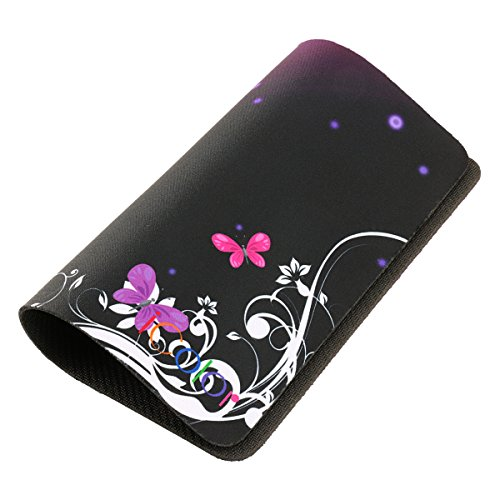 Icolor Hot Purple Butterfly Print Waterproof Anti Slip