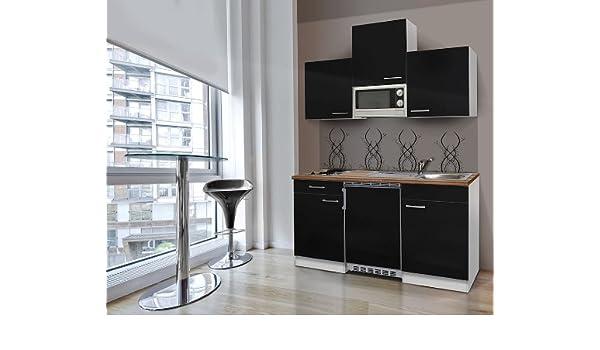 respekta - Bloque de Cocina (150 cm Color Blanco Negro con ...
