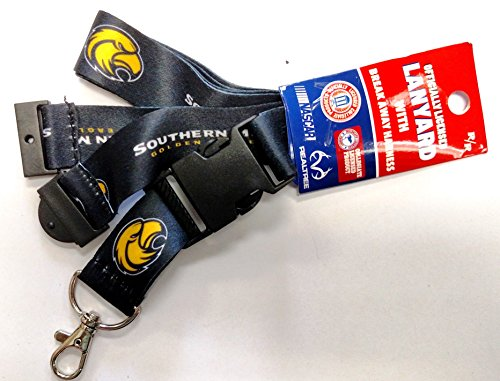 Southern Miss Golden Eagles RR Deluxe 2-sided Lanyard Breakaway Clip w/J-Hook Keychain University of Mississippi