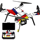 MightySkins Protective Vinyl Skin Decal for 3DR Solo Drone Quadcopter wrap cover sticker skins Deco