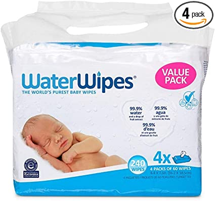 720 Count 12 Packs of 60 Count Free Shipping WaterWipes Sensitive Baby Wipes
