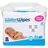 WaterWipes Sensitive Baby Wipes, 4 Packs of 60 Count (240 Count)