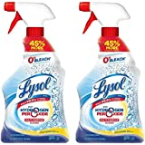 Lysol with Hydrogen Peroxide Multi-Purpose Cleaner, Citrus Sparkle Zest 32 oz (Pack of 2)
