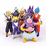 8pcs/set Dragon Ball Z Super Saiyan Goku Trunks Vegeta Champa Beerus Piccolo Majin Buu PVC Figures Collectible Model Toys 13-16cm