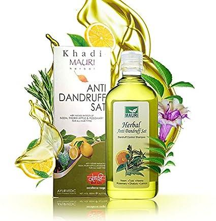 KHADI Champú Anticaspa Herbal de 500 ml – Anticaída del cabello & fortalecimiento de las raíces