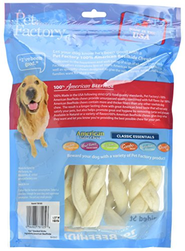 Pet-Factory-78105-100-American-Beefhide-7-8-inch-Braided-Rawhide-Sticks-for-Dogs-Made-in-USA-6-Pack