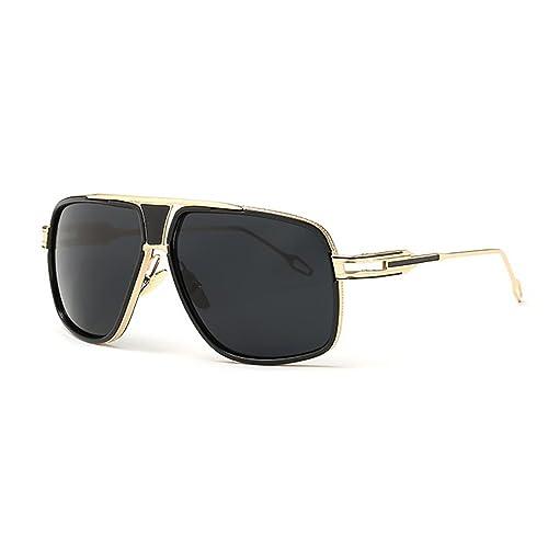 Gafas de Sol de Moda estilo Aviador Marca Retro Vintage Baratas para Mujer y Hombre Marco de metal