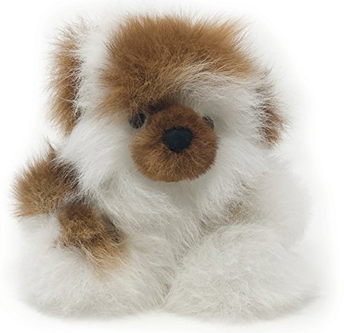 Wool Pure Baby Natura (Baby Alpaca Fur Sitting Chubby Bear - Hand Made 5+ Inch Multicolored - Each Bear is Unique)