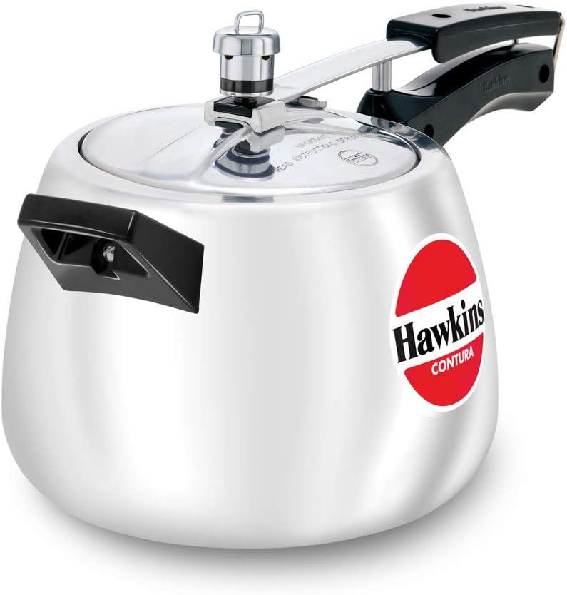 Hawkins Contura 4-Liter Pressure Cooker, Small, Aluminum