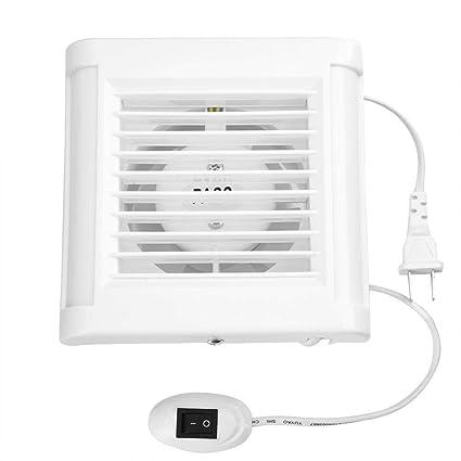 Amazon.com: Bathroom Exhaust Fan, 15W 220V Wall Mounted Exhaust Fan Low  Noise Home Bathroom Kitchen Window Garage Air Vent Ventilation: Automotive