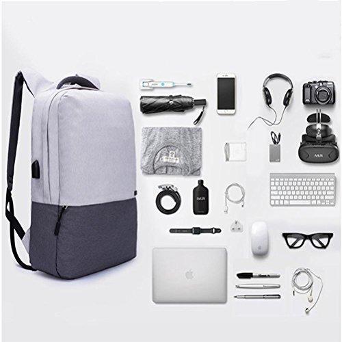 Laptop Rucksack 15,6 Zoll Nylon Schultertasche Freizeit Mode Studenten Paket Draußen Reisen Rucksäcke Grey