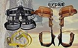 Evoke Gear Tree Climbing Spike Set Pole Spurs