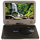 Milanix 10.1'' HD Portable DVD Player, CD Player, Swivel Angle Adjustable Display Screen, USB/SD Card Memory Readers, and Built-in Rechargeable Battery with Remote Control, And Subtitles (Optional)