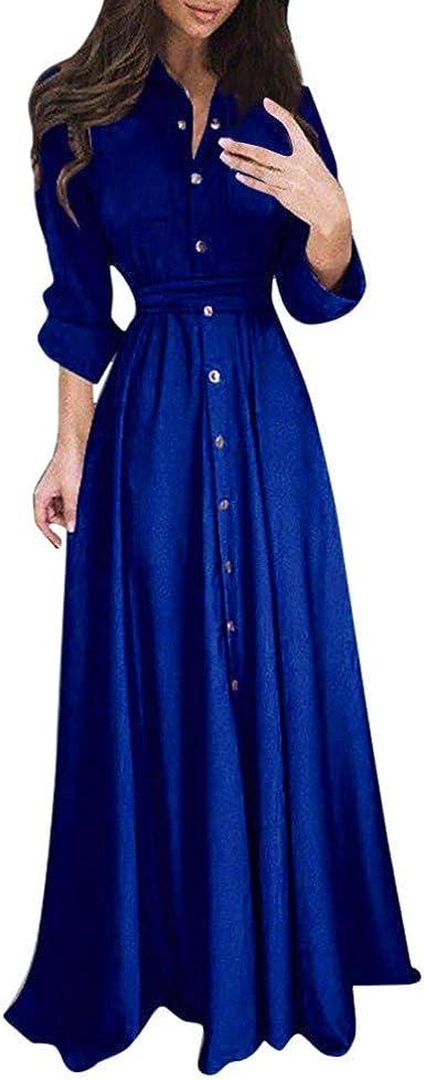 en ligne ici de gros boutique officielle holitie Vêtements Robe Longue Pas Cher Femme Mode Casual Manches ...