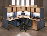 Series A Medium Cherry Corner Office Set - 5 Pc