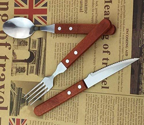 Amazon.com: MBB cubiertes Set Cena Cuchillo Tenedor Cuchara ...