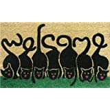 "Home & More 120391729 Cats Welcome Doormat, 17"" x 29"" x 0.60"", Multicolor"