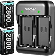 2800mAh Controller Battery Pack for Xbox One/Xbox Series X/Xbox One S/Xbox One X/Xbox One Elite, Rapthor 2 x 2