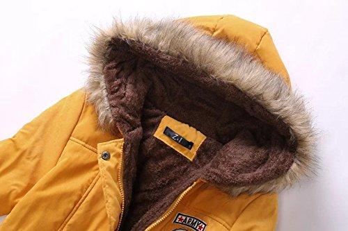 Invierno chaquetas larga capucha delgada nuevo y cuello tamaño de ocasional de con sección la de de algodón Blue mujeres las de gran cordero piel del capa ryFrgzqS